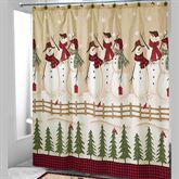 Snowmen Gathering Shower Curtain Tan 72 x 72