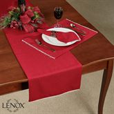Lenox French Perle Solid Table Runner Scarlet 14 x 70