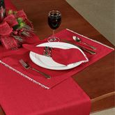 Lenox French Perle Solid Placemats Scarlet Set of Four