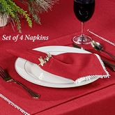 Lenox French Perle Solid Napkins Scarlet Set of Four