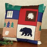 The Woods Tailored Square Pillow Multi Warm 18 Square