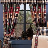 The Woods Tailored Curtain Pair Multi Warm 84 x 84