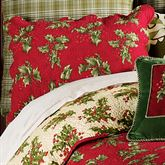Holly Red Quilted Sham Dark Red Standard