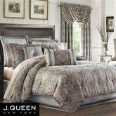 Provence Scroll Comforter Set Beige
