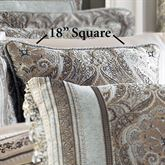 Provence Scroll Piped Pillow Beige 18 Square