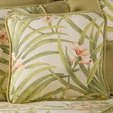 Sea Island Piped Square Pillow Ivory 18 Square