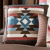 Frontier Medallion Square Pillow Chocolate 18 Square