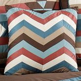 Frontier ZigZag Square Pillow Chocolate 16 Square