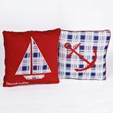 Nautical Stripe Pillow Set White Set of Two