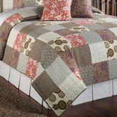 Stella Patchwork Quilt Set Taupe