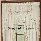 Rosemary Swag Valance Pair  58 x 38