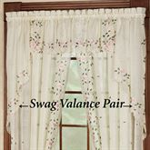 Rosemary Swag Valance Pair  58 x 38