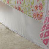 Ikat Blossom Tailored Bedskirt White