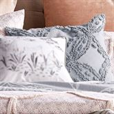 Chenille Scallop Tufted Chenille Pillow Gray 18 Square