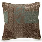 Galleria II Piped Square Pillow Chocolate 18 Square