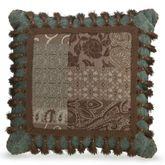 Galleria II Tasseled Square Pillow Chocolate 18 Square
