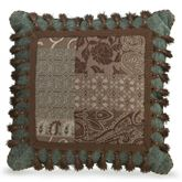 Galleria II Tasseled Square Pillow Chocolate 18 Square