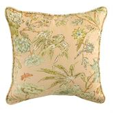 Cape Coral Quilted Pillow Peach 20 Square