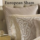 Astoria Scroll Piped Sham Sand European