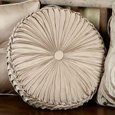 Astoria Scroll Tufted Pillow Sand Round