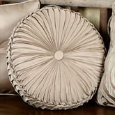 Astoria Scroll Tufted Pillow Sand Round