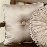 Astoria Scroll Tufted Pillow Sand 16 Square