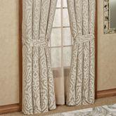 Astoria Scroll Tailored Curtain Pair Sand 98 x 84
