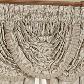 Astoria Scroll Waterfall Valance Sand 42 x 33