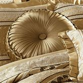 Marcello Gold Tufted Pillow Round
