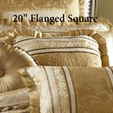 Marcello Gold Flanged Pillow 20 Square