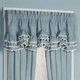 Devotion Scalloped Valance Steel Blue 72 x 20