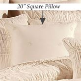 Fontana Piped Pillow Ivory 20 Square
