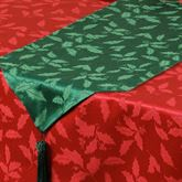 Holly Damask Table Runner