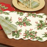Holly Berry Rectangle Placemat Set