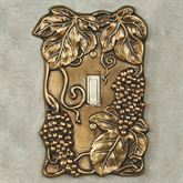 Bounty of Grapes Single Switch Antique Brass