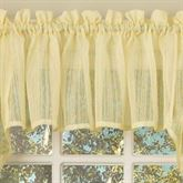 Harmony Semi Sheer Tailored Valance 56 x 12