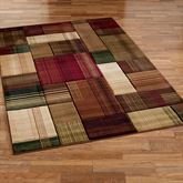 Transitional Block Rectangle Rug Multi Warm