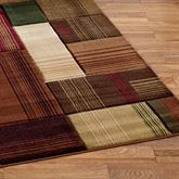 Transitional Block Rug Runner Multi Warm 27 x 74