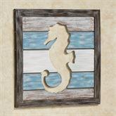 Starfish Cutout Slat Wall Art Blue