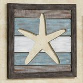 Seahorse Cutout Slat Wall Art Blue