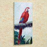 Rainforest Jewel I Parrot Canvas Art Multi Bright