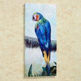 Rainforest Jewel II Parrot Canvas Art Multi Bright