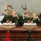 Two Reindeer Stocking Holder Set