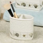 Sea Scape Brush Holder Light Cream