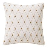 Annalise Beaded Piped Pillow Ivory 14 Square