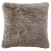 Gracious Florence Faux Fur Pillow Pearl 16 Square