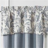 Gracious Florence Scalloped Valance Steel Blue 55 x 18