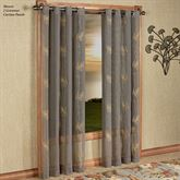 Islander Semi Sheer Grommet Curtain Panel Dark Taupe