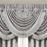 La Scala Waterfall Window Valance Silver 49 x 33