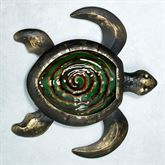 Turtle Glass and Metal Wall Art Black/Gold